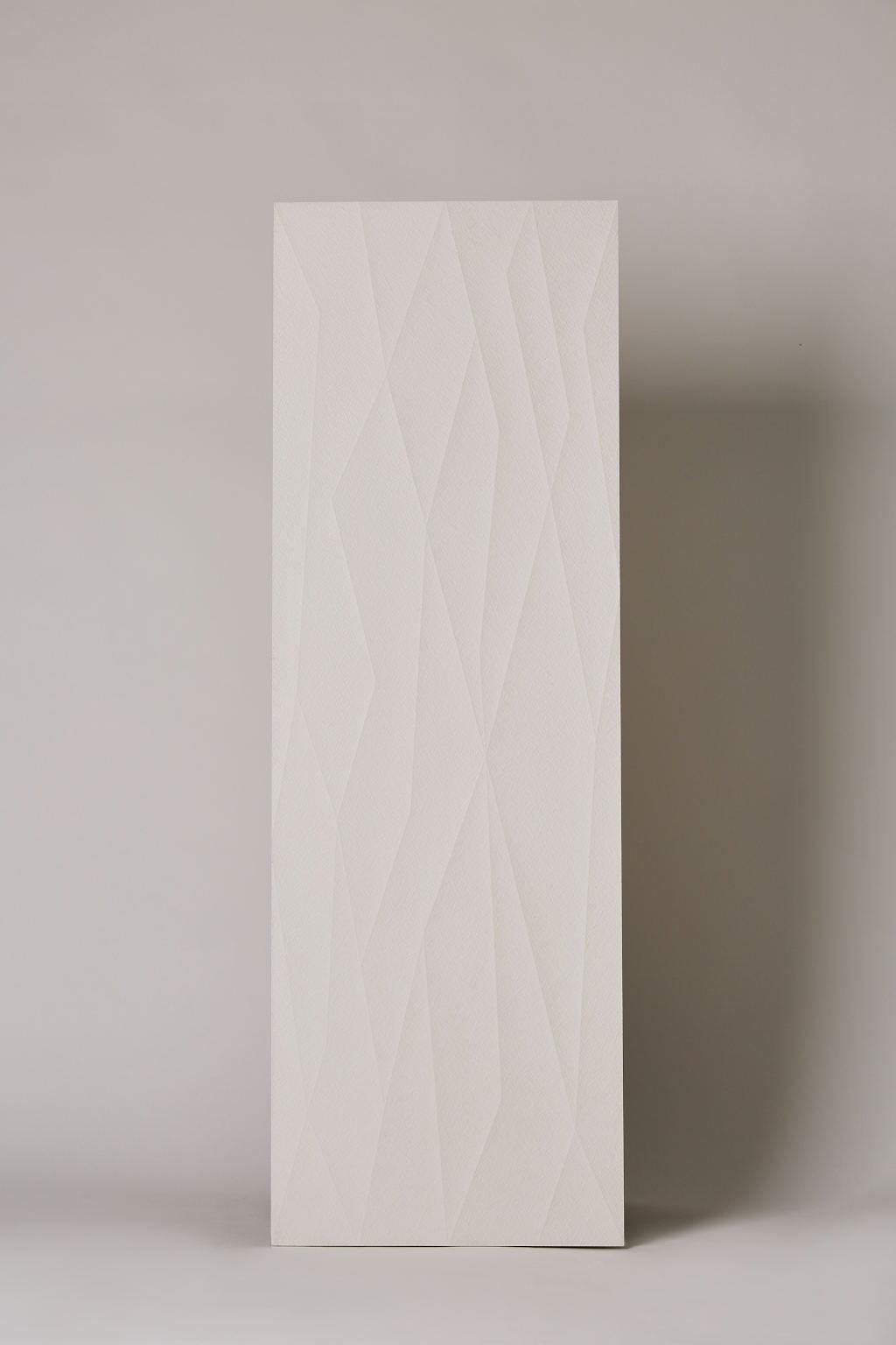 Płytka hiszpańska, gresowa, rektyfikowana, dekoracyjna, matowa, ścienna, rozmiar 40x120cm- Ape Click white net