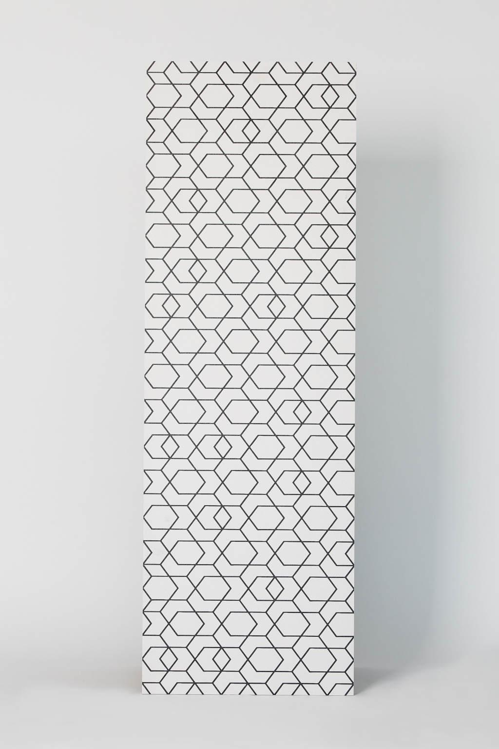 Płytka gresowa, dekoracyjna, matowa, ścienna, 40x120cm, imitacja tkaniny - Ape Cerámica, CLICK zeep white