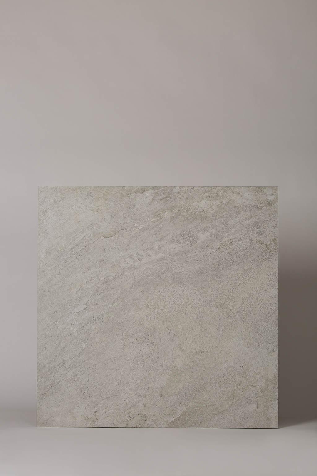 Płytka gresowa, włoska, matowa, rozmiar 80x80cm, rektyfikowana, mrozoodporna, podłoga, ściana - LA FABBRICA Storm salt 80×80