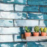Płytki gresowe, dekoracyjne, rozmiar 7.5x30cm, połysk, kolekcja CIFRE ALCHIMIA blue glossy